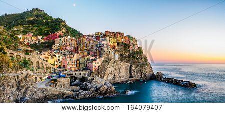 Sunset over Manarola - Cinque Terre Italy