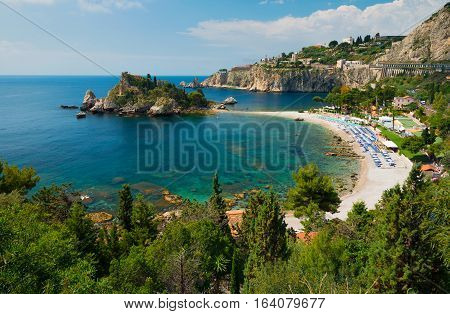 The beach near Isola Bella - Taormina Sicily