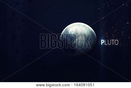 Pluto - High resolution beautiful art presents planet of the solar system. This image elements furnished by NASA