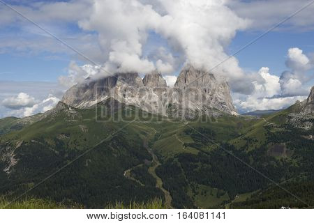 Sasso Lungo and Sasso Piatto - Dolomiti - Trentino - Italy