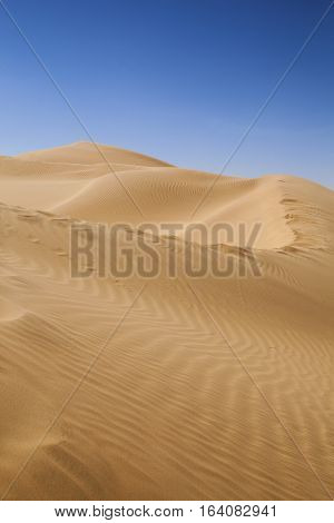 The empty quarter and sand dune in Oman old desert Rub al Khali