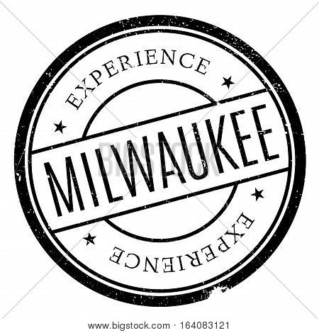 Milwaukee stamp. Grunge design with dust scratches. Effects can be easily removed for a clean, crisp look. Color is easily changed.