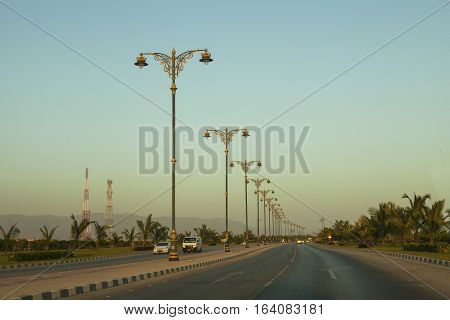 As Sultan Qaboos Str. in Salalah, Dhofar, Oman.