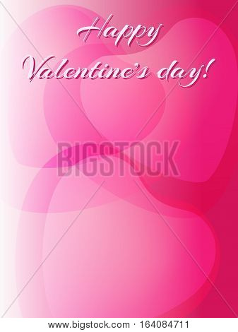 Gentle vector background with translucent hearts. For Valentine's Day