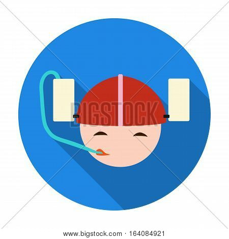 Beer helmet icon in flat design isolated on white background. Pub symbol stock vector illustration.