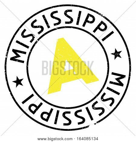Mississippi stamp. Grunge design with dust scratches. Effects can be easily removed for a clean, crisp look. Color is easily changed.