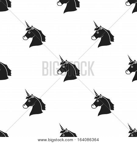 Unicorn icon black. Single gay icon from the big minority, homosexual black.