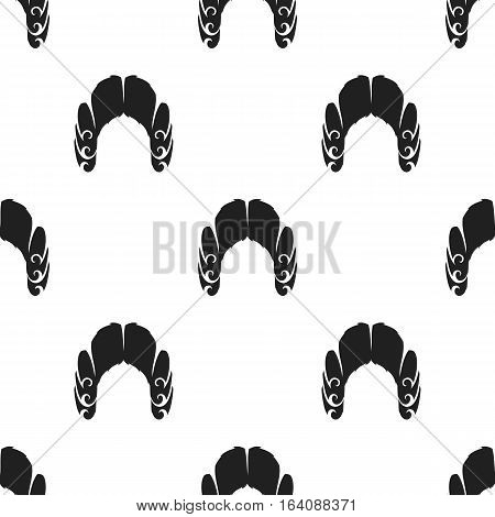 Judges wig icon in black style isolated on white background. Hats pattern vector illustration.