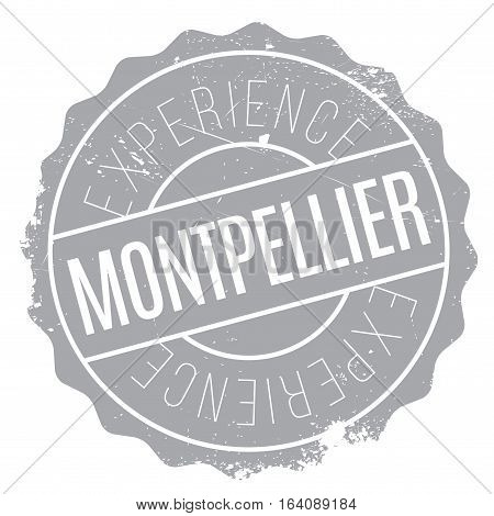 Montpellier stamp. Grunge design with dust scratches. Effects can be easily removed for a clean, crisp look. Color is easily changed.