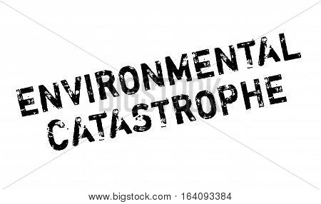 Environmental Catastrophe rubber stamp. Grunge design with dust scratches. Effects can be easily removed for a clean, crisp look. Color is easily changed.