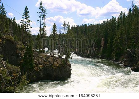 Yellowstone River in Yellowstone National Park, Wyoming