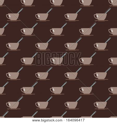 Tea cup vector illustration. Hot healthy drink relax eating seamless pattern. Fresh antioxidant herbal organic liquid. Refreshment chinese mint aroma food.