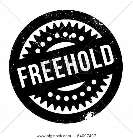 Freehold rubber stamp. Grunge design with dust scratches. Effects can be easily removed for a clean, crisp look. Color is easily changed.