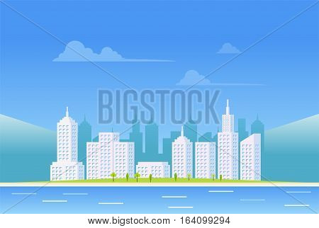 Clear city landscape background. Urban landscape background