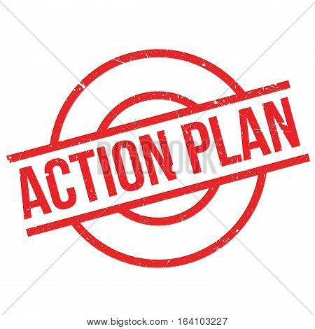 Action Plan rubber stamp. Grunge design with dust scratches. Effects can be easily removed for a clean, crisp look. Color is easily changed.