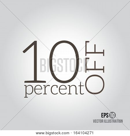 10 sale. Price off icon with 10 percent discount.