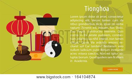 Tionghoa Conceptual Banner | Great flat illustration concept icon and use for Religious, event, holiday, celebrate and much more.