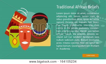 Traditional African Beliefs Conceptual Banner | Great flat illustration concept icon and use for Religious, event, holiday, celebrate and much more.