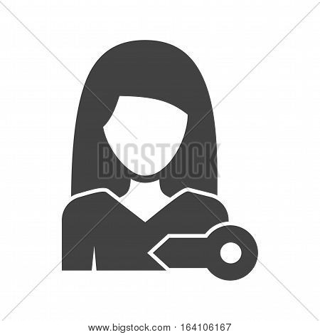 Account, woman, privacy icon vector image. Can also be used for women. Suitable for mobile apps, web apps and print media.