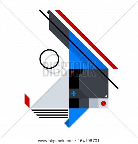 Abstract Geometric Composition Of Simple Shapes. Style Of Abstract Art, Suprematism, Constructivism.