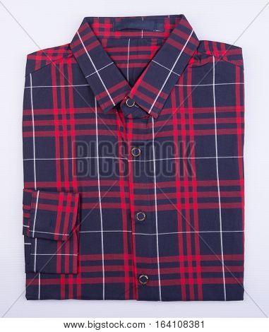 Shirt Or Man Dress Shirt On Background.