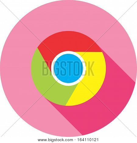Chrome, google, browser icon vector image. Can also be used for social media logos. Suitable for mobile apps, web apps and print media.