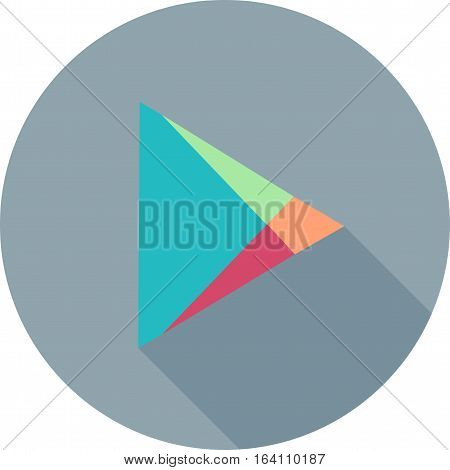 Play, google, store icon vector image. Can also be used for social media logos. Suitable for mobile apps, web apps and print media.