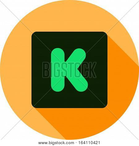 Kickstarter, crowdfunding, platform icon vector image. Can also be used for social media logos. Suitable for mobile apps, web apps and print media.