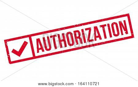 Authorization rubber stamp. Grunge design with dust scratches. Effects can be easily removed for a clean, crisp look. Color is easily changed.