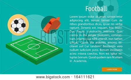Football Conceptual Banner | Great flat illustration concept icon and use for sport, award, hobby, job, and much more.