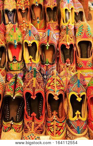 Display Of Colorful Shoes, Mehrangarh Fort, Jodhpur, India
