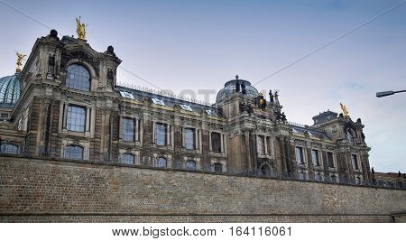 DRESDEN GERMANY - AUGUST 13 2016: Dresden Academy of Fine Arts - University of visual arts (HfBK Dresden) in Dresden State of Saxony Germany on August 13 2016.