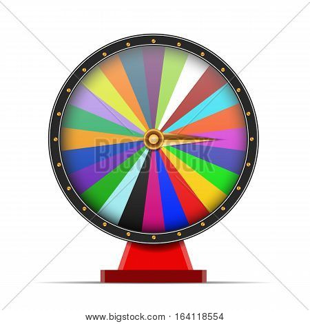 Colorful Wheel Of Fortune On White Background Illustration Eps 10