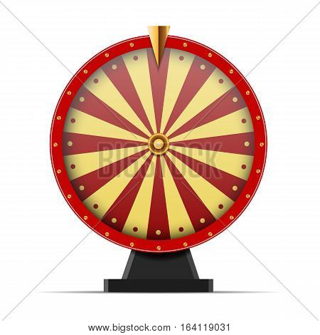 Red Wheel Of Fortune  Isolated On White Illustration Eps 10