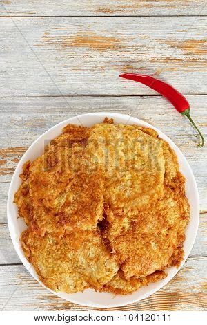 Pan Fried In Batter Breaded Boneless Pork Chops