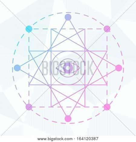 Sacred geometry sign. Linear Modern Art. Alchemy spirituality esoteric hipster symbol, logotype