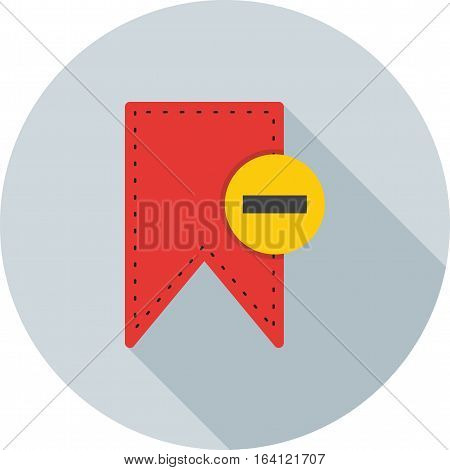 Bookmark, document, delete icon vector image. Can also be used for user interface. Suitable for mobile apps, web apps and print media.