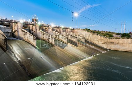 Dam Gate, The Pa Sak Cholasit Dam. Lop Buri Thailand