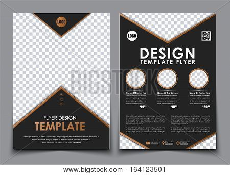 Template Black A4 Brochures.