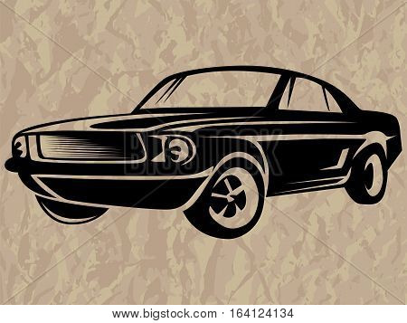 Muscle Car Isolated On Paper