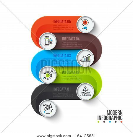 Creative concept for infographic. Process chart. Abstract elements of graph, diagram with 6 steps, options, parts or processes. Vector business template for presentation. Stroke icons.