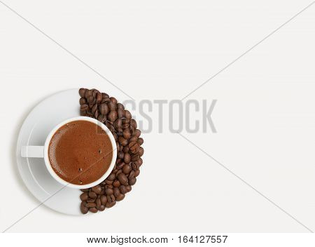 a morning Cup of aromatic and refreshing coffee