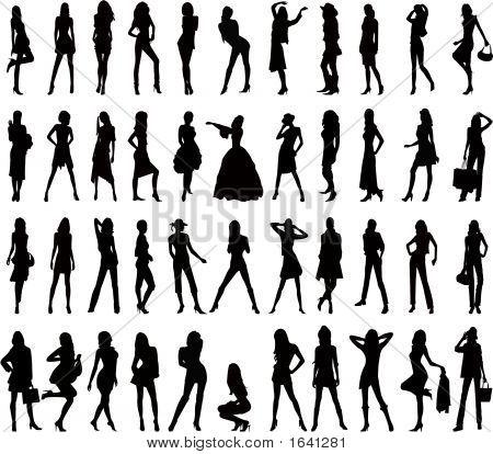 Fashion Girl - Vector Illustration