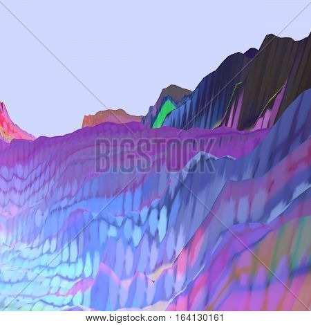 Background of glitch manipulations. Abstract colorful shapes. It can be used for web design and visualization of music
