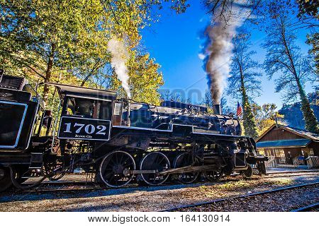 great smoky mountains rail road autumn season excursion