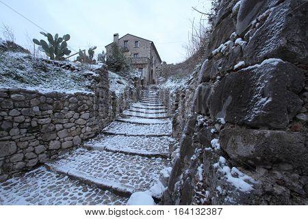 San Pietro Infine - Italy - January 6, 2017 - The