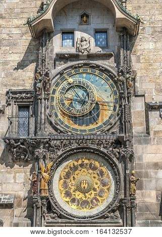 Czech Republic Prague. Favorite attraction residents of Prague and its many visitors are certainly Astronomical Clock on the Old Town Square.