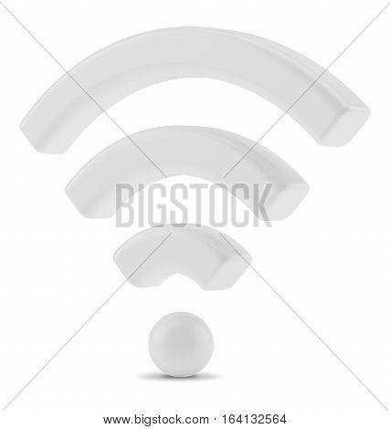 Wi Fi Wireless Network Symbol, 3d rendering.
