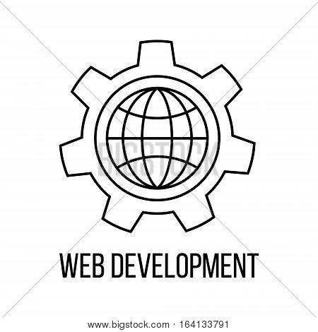 Web development icon or logo line art style. Vector Illustration.