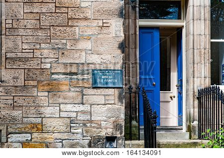 St. Andrews Scotland UK- circa sepotember 2016.Departamento of Moral Philosophy of St. Andrews University
